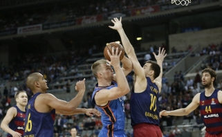 """D.Sabonis žaidė daug ir naudingai, """"Thunder"""" išplėšė dramatišką pergalę Barselonoje"""