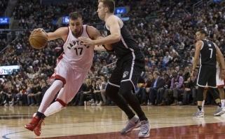 """Nets"" neturėjo vilčių prieš ""Raptors"", J.Valančiūnas surinko dar vieną dvigubą dublį"
