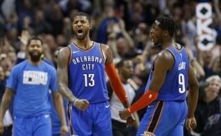 """Dviejų pratęsimų trileryje - """"Thunder"""" triumfas bei saldus """"Raptors"""" revanšas prieš """"Spurs"""""""