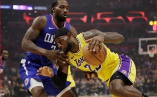 """Žvaigždžių debiutais pažymėtame Los Andželo derbyje - K.Leonardo ir """"Clippers"""" triumfas"""