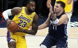 """NBA: Dončičius pranoko LeBroną, """"Pacers"""" laimėjo be centrų (rezultatai)"""