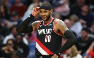 C.Anthony: meldžiuosi, kad kitą sezoną galėčiau rungtyniauti Portlande