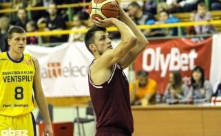 T.Jogėlos ir D.Krestinino klubas iškovojo dramatišką pergalę Latvijoje
