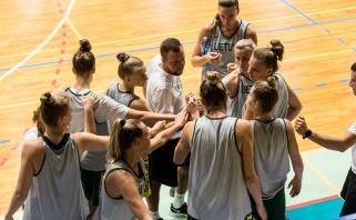Moterų rinktinės tarpusavio rungtynėse – J.Jocytės komandos triumfas