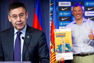 """""""Barcos"""" prezidentas neslepia ambicijų: daug tikisi ir iš Šaro, ir iš futbolininkų"""