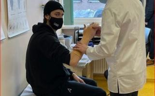 Danijos rinktinės puolėjas Vilniuje susilaužė ranką