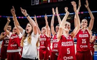 Įsibėgėjančios Rusijos krepšininkės pateko į Europos čempionato ketvirtfinalį