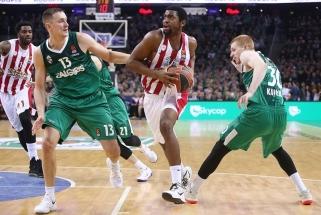 """""""Olympiakos"""" traumuotų žaidėjų sąrašas sutrumpėjo (Š.Jasikevičiaus komentaras)"""