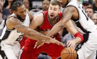 """J.Valančiūnas sužaidė vienas prasčiausių rungtynių, """"Raptors"""" atrodė tragiškai"""