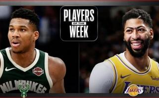 NBA antrosios savaitės MVP - lygos superžvaigždės G.Antetokounmpo ir A.Davisas