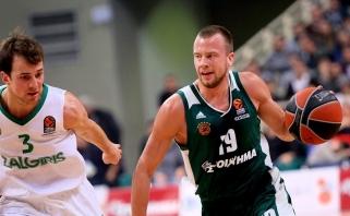 """""""Žalgiris"""" Atėnuose pralaimėjo paskutinę pratęsimo sekundę, sužibėjo L.Lekavičius"""