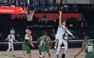 Kosminis Dončičiaus krepšinis: rekordas, trigubas dublis, išplėštas pratęsimas ir pergalė prieš NBA lyderius