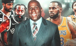 """Magicas: NBA turi bijoti """"Lakers"""" ir LeBrono; Hardenas: mes nebijome nieko"""