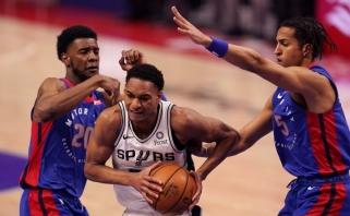 """Sirvydis gavo minučių, tačiau """"Pistons"""" jau buvo susitaikę su pralaimėjimu (rezultatai)"""