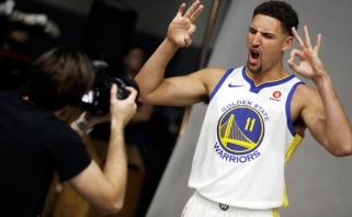 """""""Warriors"""" žvaigždė K.Thompsonas ketina visą karjerą nekeisti komandos"""