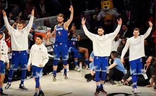 """D.Sabonis paliko žymę NBA """"Visų žvaigždžių"""" rungtynėse – triumfavo kartu su LeBrono komanda"""