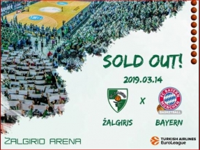 """""""Žalgirio"""" sirgaliai toliau demonstruoja ištikimybę - bilietai į mačą su """"Bayern"""" taip pat išpirkti"""