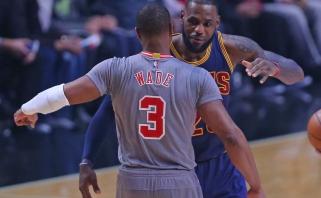 NBA: L.Jameso ir D.Wade'o susitikimas bei didvyris K.Leonardas (rezultatai)