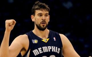 """NBA: """"Grizzlies"""" su M.Gasoliu nutraukė 16-os iš eilės """"Warriors"""" pergalių seriją"""