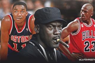 """M.Jordanas visgi prisipažino: pasakiau, kad nežaisiu, jei """"Svajonių komandos"""" sudėtyje bus I.Thomasas"""