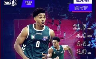 """NKL savaitės MVP - vėl B.Sanfordas, penketuke - du """"Ryto"""" dubleriai"""