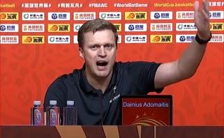 FIBA nusprendė cenzūruoti skandalingąją D.Adomaičio spaudos konferencijos kalbą