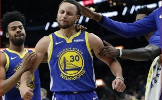 Kas kitas, jei ne jis: S.Curry pataikė tolimiausią metimą šiame sezone