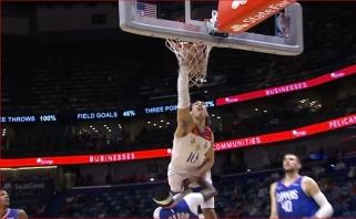 Moranto dėjimas po Valančiūno perdavimo ir fantastiškas Hayeso skrydis – NBA Top 10 rinkinyje