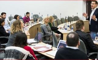 """""""Žalgirio"""" atstovai perteikė patirtį VDU ir Eurolygos studijų programos studentams"""