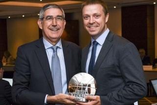 """Prestižinis Eurolygos apdovanojimas vėl atiteko """"Žalgirio"""" vadovui P.Motiejūnui"""