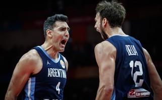 Argentiniečiai po atkaklios kovos palaužė Rusijos rinktinę
