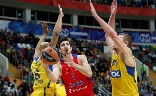"""N.De Colo vedamas CSKA parbloškė """"Maccabi"""" krepšininkus (video)"""