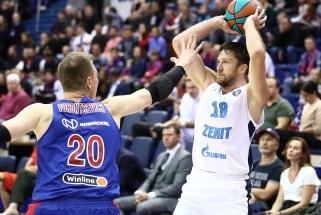 """""""Zenit"""" VTB lygoje skėlė jau antrą antausį čempionams"""