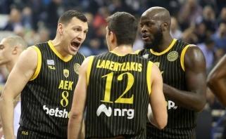 J.Mačiulis svariai prisidėjo prie AEK pergalės FIBA Čempionų lygos aštuntfinalyje