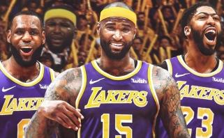 """""""Lakers"""" svarsto kontrakto su D.Cousinsu nutraukimo galimybę"""