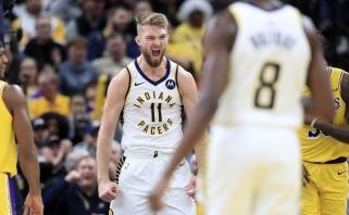 """Nesustabdomo D.Sabonio vedami """"Pacers"""" nukovė NBA favoritus su LeBronu priešakyje (rezultatai)"""