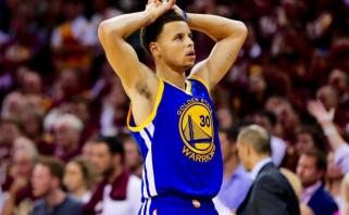 S.Curry susiėmęs už galvos: turiu žaisti 100 kartų geriau (L.Jameso komentaras)