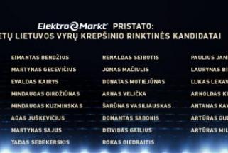 Paskelbtas išplėstinis Lietuvos vyrų rinktinės kandidatų sąrašas