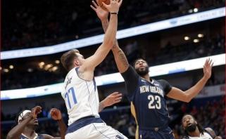 """NBA: žadą atimanti L.Dončičiaus ir A.Davieso dvikovą bei lyderio poziciją praradę """"Raptors"""""""