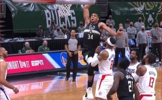 Giannio blokas Zubacui bei jo monstriškas dėjimas – gražiausi NBA epizodai