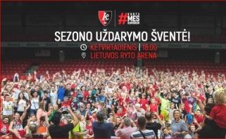 """""""Lietuvos rytas"""" sezono uždarymo šventėje pristatys naują komandos pavadinimą"""