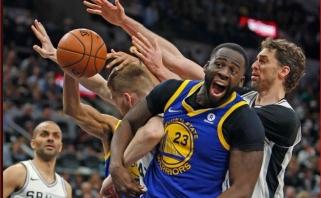 """""""Warriors"""" ir """"Pelicans"""" - per žingsnį nuo kito etapo, """"76ers"""" išsiveržė į priekį"""