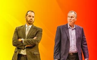 """M.D'Antoni apie """"Lakers"""" ūgio pranašumą: esu toks pat aukštas, kaip F.Vogelis"""