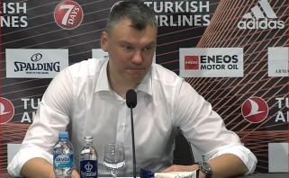 Š.Jasikevičius: pergalė superinė, su kaupu atsigriebėme; R.Kurtinaitis: dar nemačiau tokios sutrikusios komandos
