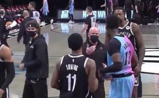 Irvingas toliau nepaiso COVID-19 protokolo: NBA žvaigždę drausmino apsaugos darbuotojas