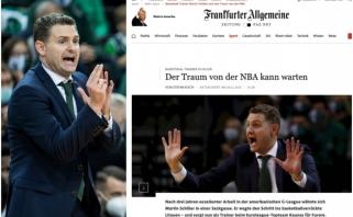 """""""Žalgirio"""" strategui – Vokietijos žiniasklaidos milžino dėmesys: NBA svajonė gali palaukti"""