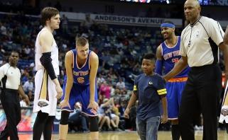 NBA: K.Porzingio dublis ir netikėtas jaunojo C.Anthony gerbėjo poelgis (rezultatai)