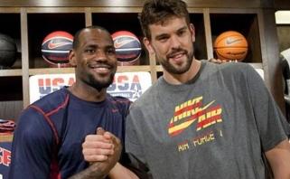 NBA savaitės geriausieji - L.Jamesas ir M.Gasolis