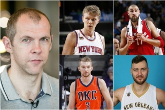 """Keturi """"taip"""": rinktinės marškinėlius apsivilkti nori visi NBA lietuviai"""