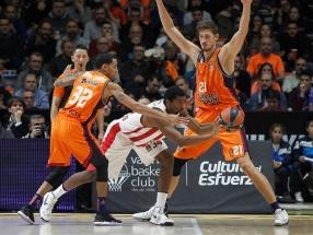 """""""Olympiakos"""" išvykoje parklupdė Ispanijos čempionus ir pakilo į pirmą vietą"""